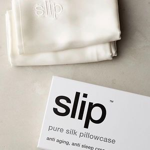 Slip White Standard Silk Pillowcase